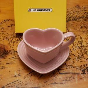 Le creuset pink mug and saucer